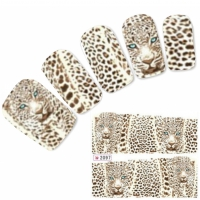Tattoo Nail Art Aufkleber Leopard Nagel Sticker Neu!