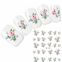 Tattoo Nail Art Blume Aufkleber Nagel Sticker