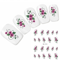 Tattoo Nail Art Blume Ornamente Aufkleber Nagel Sticker