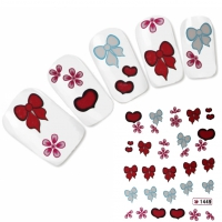 Tattoo Nail Art Herz Scheife Aufkleber Nagel Sticker