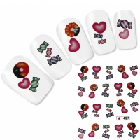 Tattoo Nail Art Herz Donut Aufkleber Nagel Sticker