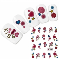 Tattoo Nail Art Herz Aufkleber Nagel Sticker