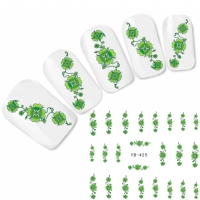 Tattoo Nail Art Kleeblatt Aufkleber Nagel Sticker