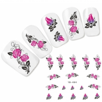 Tattoo Nail Art Ornamente Rose Aufkleber Nagel Sticker