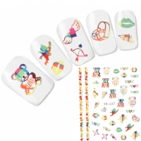 Tattoo Nail Art Herz Love Aufkleber Nagel Sticker