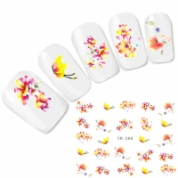 Tattoo Nail Art Blumen Schmetterling Aufkleber Nagel Sticker