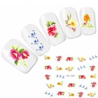 Tattoo Nail Art Blumen Schmetterlinge Aufkleber Nagel Sticker