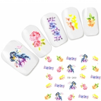 Tattoo Nail Art Japan Manga Blumen Aufkleber Nagel Sticker
