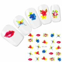 Tattoo Nail Art Kiss Schmetterlinge Aufkleber Nagel Sticker
