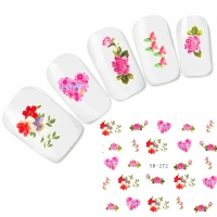 Tattoo Nail Art Love Blumen Aufkleber Nagel Sticker