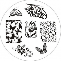 Nail Art Fashion Schmetterling Butterfly Nagelstempel Plates