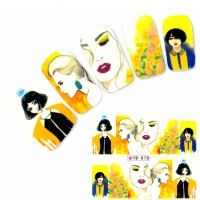Tattoo Nail Art Aufkleber Japan Manga Nagel Sticker