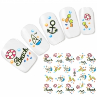 Tattoo Nail Art Aufkleber Nagel Sticker