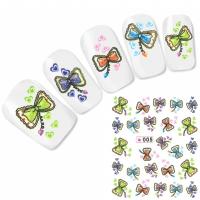 Tattoo Nail Art Aufkleber Schleife Nagel Sticker