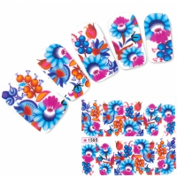 Tattoo Nail Art Blumen Flower Aufkleber Nagel Sticker