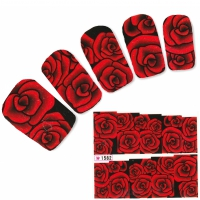 Tattoo Nail Art Blumen Rose Aufkleber Nagel Sticker