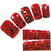 Tattoo Nail Art Rose Blumen Aufkleber Nagel Sticker