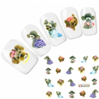 Tattoo Nail Art Hunde Aufkleber Nagel Sticker