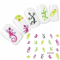 Tattoo Nail Art Echse Aufkleber Nagel Sticker