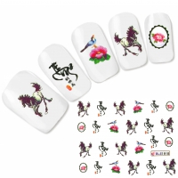Tattoo Nail Art Japan Pferd Aufkleber Nagel Sticker