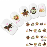 Tattoo Nail Art Pferd Aufkleber Nagel Sticker
