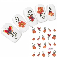Tattoo Nail Art Schmetterling Blumen Aufkleber Nagel Sticker