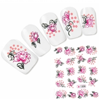 Tattoo Nail Art Blumen Aufkleber Nagel Sticker