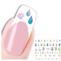 3D Nagel Sticker Nail Art Diamanten Tropfen Aufkleber