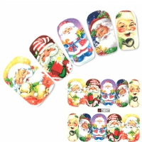 Tattoo Nail Art Nikolaus Santa Claus Aufkleber Nagel Sticker