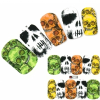Nagel Sticker Tattoo Nail Art Totenkopf
