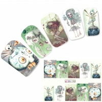 Nagel Sticker Tattoo Nail Art Skelett Figuren