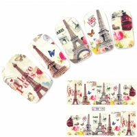 Tattoo Nail Art Eiffelturm Paris London Aufkleber Nagel Sticker