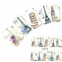 Tattoo Nail Art Paris Eiffelturm London Big Ben Aufkleber Nagel Sticker