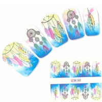 Tattoo Nail Art Traumfänger Federn Aufkleber Nagel Sticker