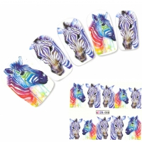 Tattoo Nail Art Zebra Afrika Wildnis Aufkleber Nagel Sticker