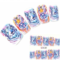 Tattoo Nail Art Tiger Afrika Wildnis Aufkleber Nagel Sticker