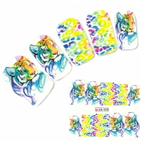 Tattoo Nail Art Tiger Tigermuster Afrika Wildnis Aufkleber Nagel Sticker
