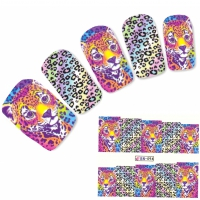 Tattoo Nail Art Tigerbaby Tigermuster Afrika Wildnis Aufkleber Nagel Sticker