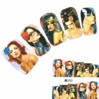 Tattoo Nail Art Modell Glamour Aufkleber Nagel Sticker