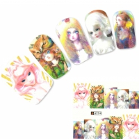 Tattoo Nail Art Japan Manga Girl Hipster Aufkleber Nagel Sticker