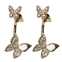 Schmetterling Strass Ohrstecker Ohrringe earrings