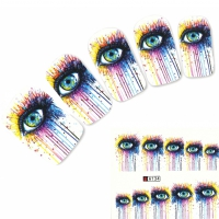 Tattoo Nail Art weinendes Auge Aufkleber Nagel Sticker