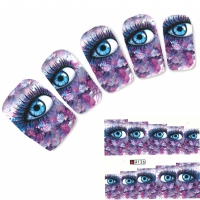 Tattoo Nail Art Auge Look Blumen Aufkleber Nagel Sticker