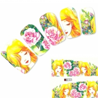 Tattoo Nail Art Japan Manga Blume Girl Aufkleber Nagel Sticker