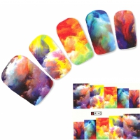 Tattoo Nail Art bunte Farben Fantasie Aufkleber Nagel Sticker