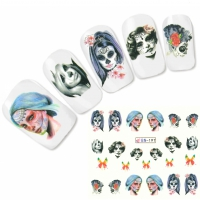 Tattoo Nail Art La Catrina Day of the Dead Dia de Muertos