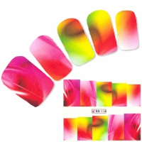 Tattoo Nail Art Phantasie bunte Farben Nagel Sticker