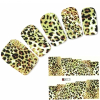 Tattoo Nail Art Tigermuster Afrika Wildnis Nagel Sticker