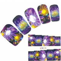 Tattoo Nail Fantasie Blumen Nagel Sticker