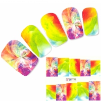 Tattoo Nail Art Schmetterling Falter bunte Farben Nagel Sticker